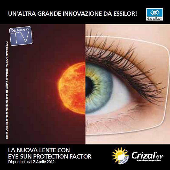 Dal 2 aprile 2012 potrete richiedere esclusivamente presso i centri  selezionati ESSILOR, la nuova lente CRIZAL FORTE UV con E-SPF, la prima  lente chiara con ... 352a34f966